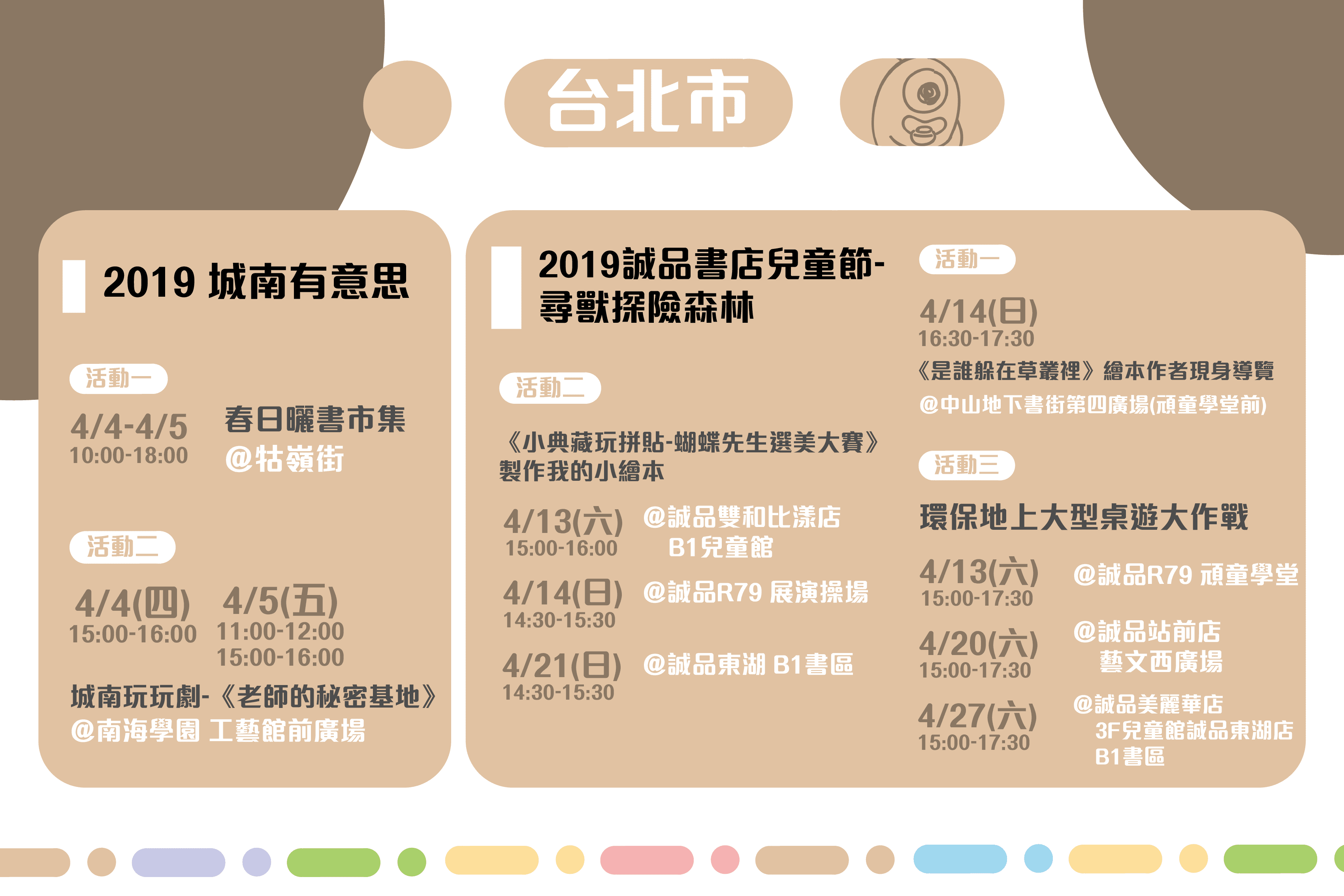 世界閱讀日 親子共讀活動懶人包-台北市