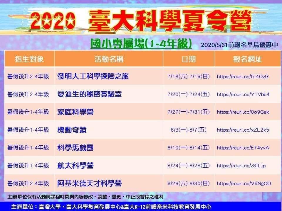 2020國小專屬場(1-4年級)