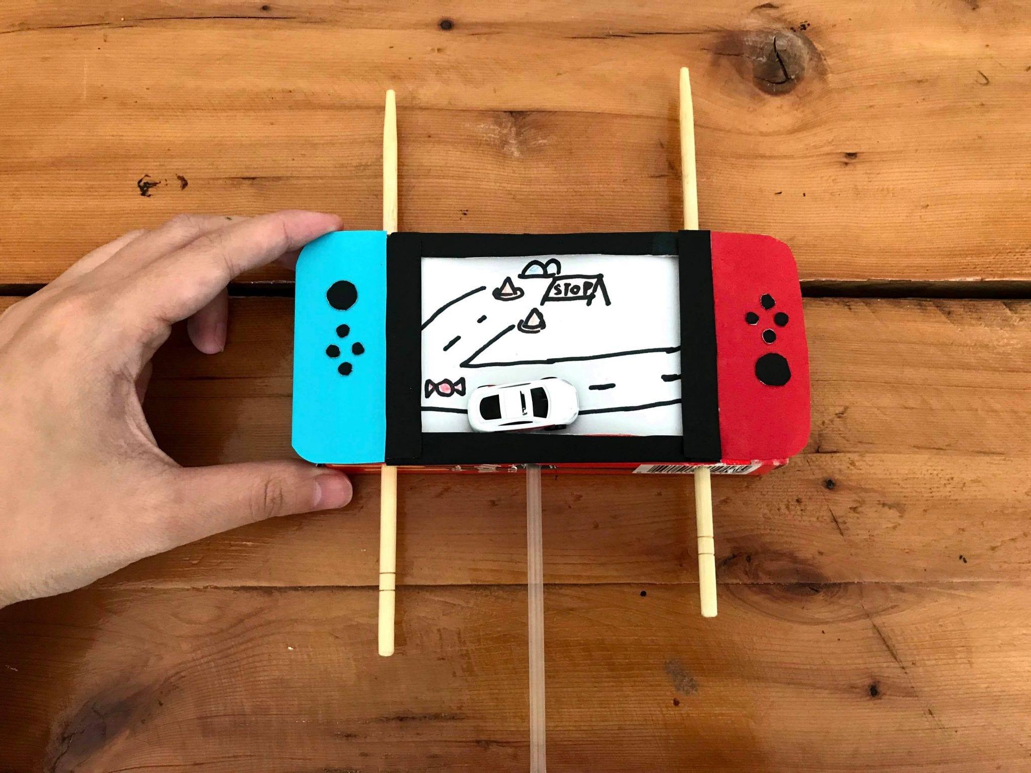 自製玩具-餅乾盒變身Switch