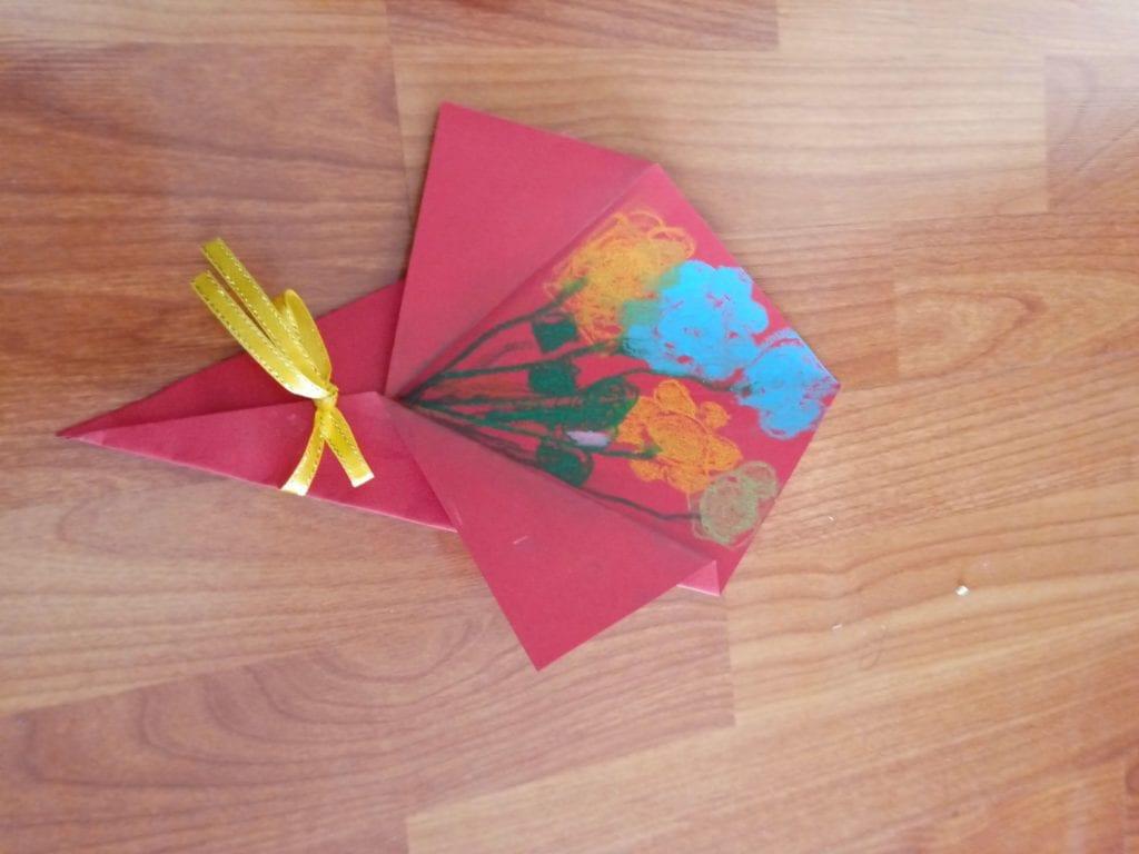 母親節就是要diy :花束卡片