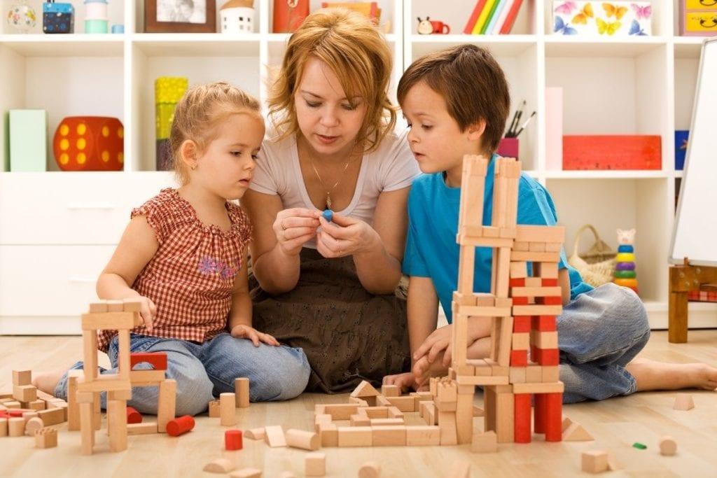 親子堆疊積木活動